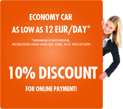 Special Offer: 10% DISCOUNT for reservations paid online!